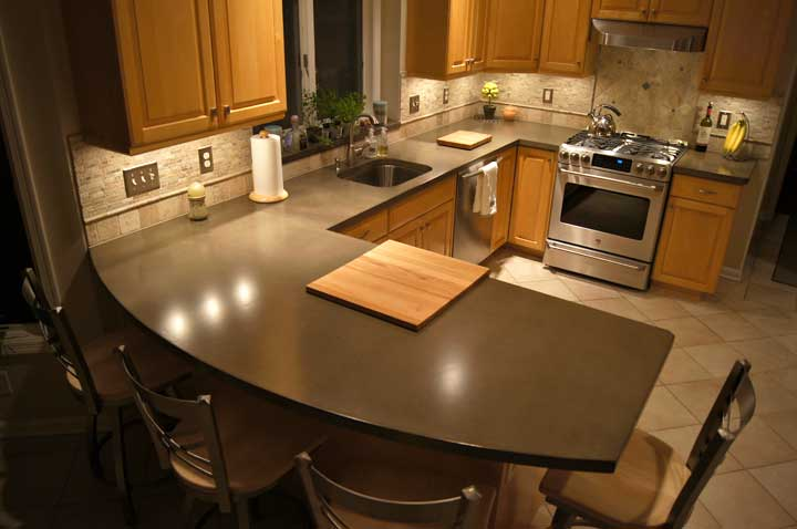 Kitchen Concrete Countertop Concrete Countertops Design Gallery