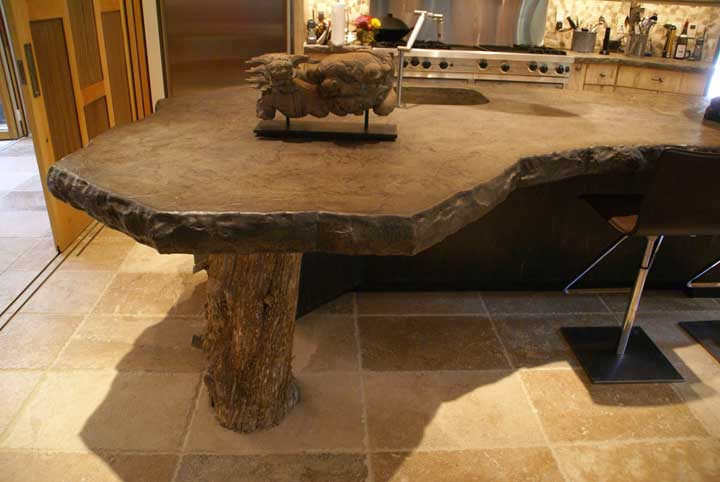 Kitchen Featuring Stonehenge Countertop 4 Thick Concrete Top