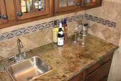 bar featuring stonehenge concrete countertops